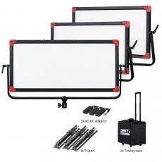 SWIT PL-E90D 3KIT  Set aus: 3x90W LED Softlight, 2200lx, V-Mount, DMX