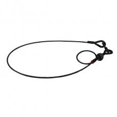 Saveking® Sicherungsseil 100cm/4mm (schwarz)