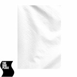 The Rag Place 08 x 12 Grid Cloth Half (Light), White