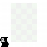 The Rag Place 20 x 20 Checkerboard Lame silver/white