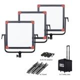 SWIT PL-E60D 3KIT  Set aus 3x60W LED Softlight, 1500lx, V-Mount, DMX