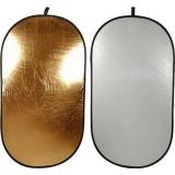 Avenger I4841 Ovalreflektor Gold/Weiss 120x90cm